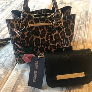 Set of Steve Madden mini satchel plus wallet NWT